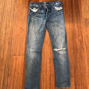 Distressed Seven jeans!